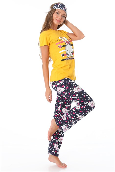 9763 LITTLE RABBIT BASKILI PIJAMA TAKIMI