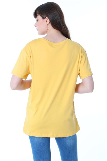 25178 UZAY BASKILI BASIC TSHIRT