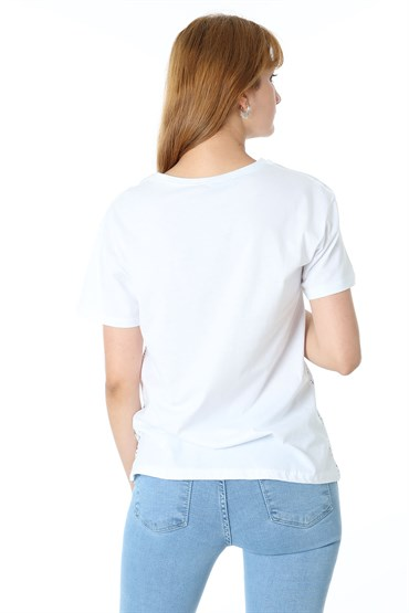 UZAY BASKILI BASIC TSHIRT